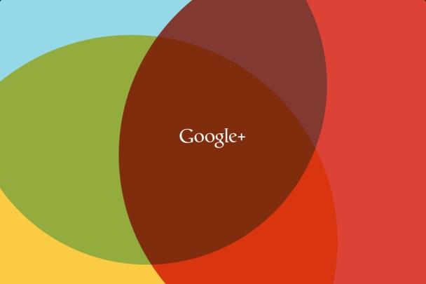tela inicial do app do google+ para iOS