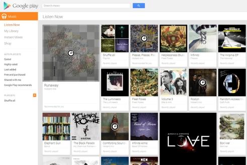 biblioteca do google music all access