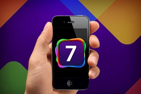 arte feita com um iPhone e um possível logo do iOS 7
